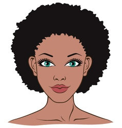 woman face closeup vector image