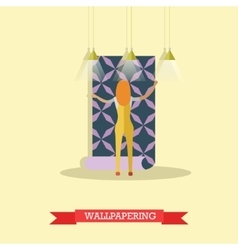 Wallpapering concept in flat vector