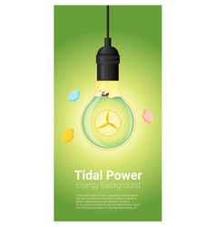 Energy concept background with tidal energy in vector
