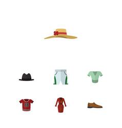 flat clothes set of casual elegant headgear vector image
