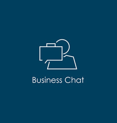 business chat symbol vector image