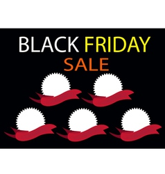 Five round banners on black friday background vector