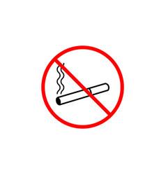 No smoking line icon prohibition sign forbidde vector