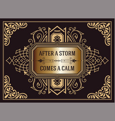 western card with floral elements vector image