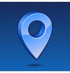 Blue pin 3D vector image