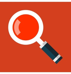 Search magnifying glass icon in flat style vector