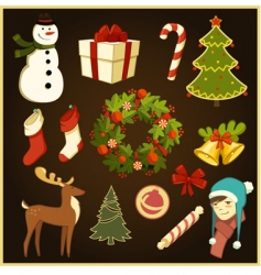 Christmas stuff vector