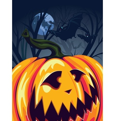 Halloween pumpkin in the forest3 vector