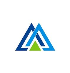 Company triangle business logo vector