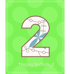Happy birthday two card vector