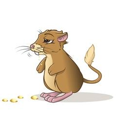 kangaroo rat eating vector image