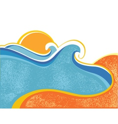sea landscape vector image