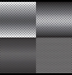 Metal texture background set vector