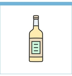 Bottle of wine icon vector