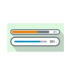 Progress loading bar icon flat style vector image