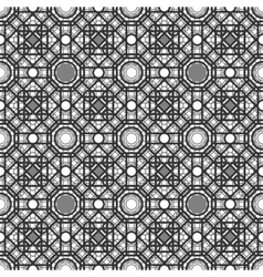 Seamless pattern with overlapping geometric shapes vector image
