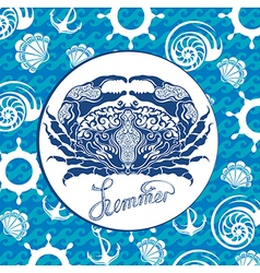 Blue crab vector