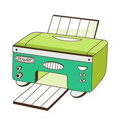 A printer vector image vector image