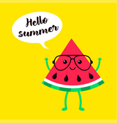 background of watermelons in glasses vector image vector image