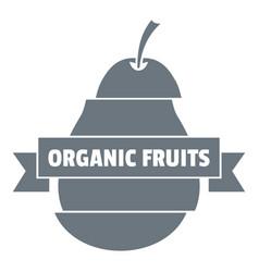 bio organic fruits logo simple style vector image