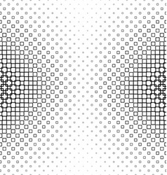 Black and white abstract square pattern vector image vector image