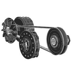 black belt vector image