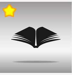 black book icon button logo symbol concept high vector image