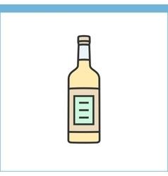 Bottle of wine icon vector