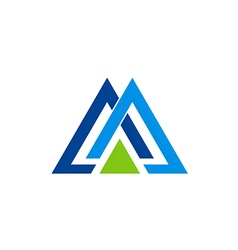 company triangle business logo vector image
