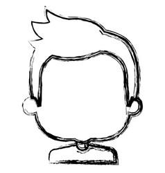 Cute boy avatar character vector
