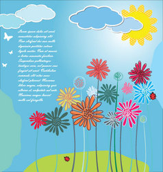 Cute spring background vector image