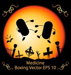 Dark Medicine Boxing vector image