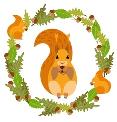Frame with a squirrel vector