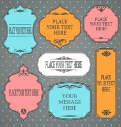 Frames design vintage color vector