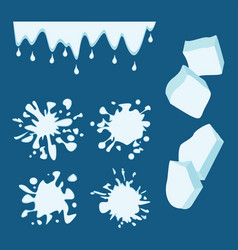 ice drops set vector image