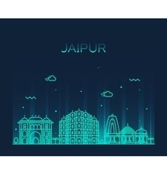 Jaipur skyline trendy linear vector
