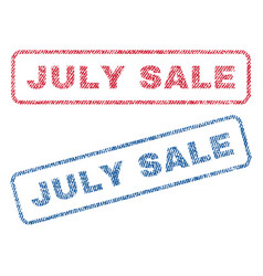 July sale textile stamps vector