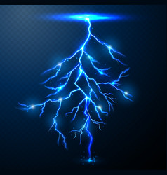 lightning of blue with a black background vector image
