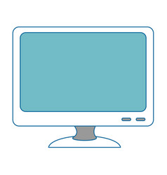 monitor computer isolated icon vector image vector image