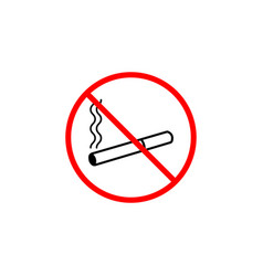 No smoking line icon prohibition sign forbidde vector