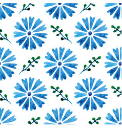 Seamless pattern with beautiful watercolor vector