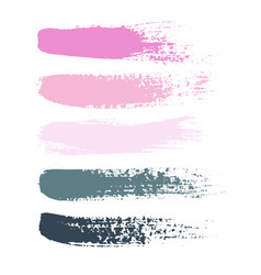 set of grunge brush strokes set of vector image