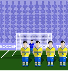 Sweden Soccer Club Penalty on a Stadium vector image vector image