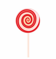 sweet candy on stick sign or symbol isolated on vector image