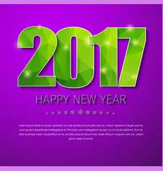 template square banner background happy new year vector image vector image