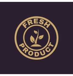 The fresh product icon eco and bio ecology vector