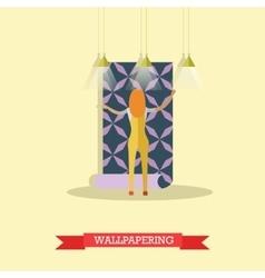 Wallpapering concept in flat vector