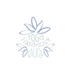 Yoga harminy hand drawn promotion sign vector
