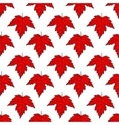 Autumn seamless leaf pattern 8 vector image