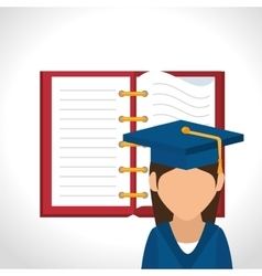 Student graduated avatar isolated vector